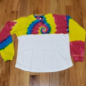 Long Sleeve  Colorful Tie dyed shirt